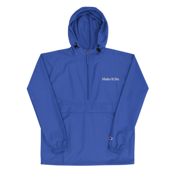 Royal blue Gifts For Men jacket with Make It Do® logo