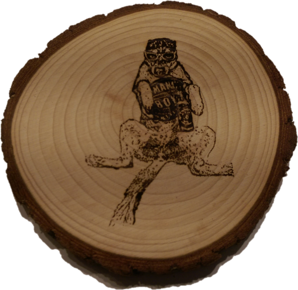 Laser engraved personalized coaster