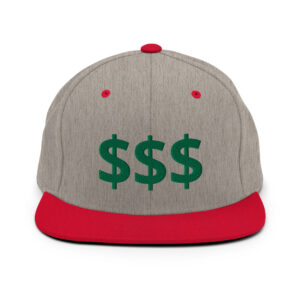 Money Snapback Embroidered Hat