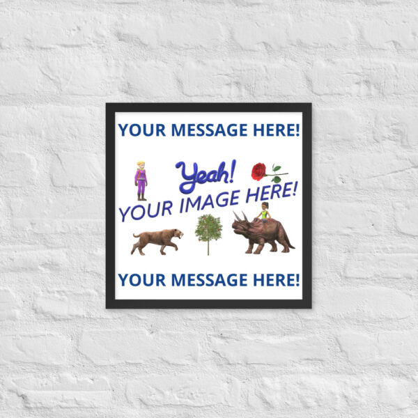 Personalized 16X16 picture with your image and personalized text