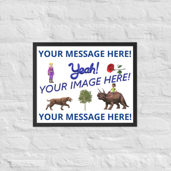Personalized 16X20 picture with your image and personalized text