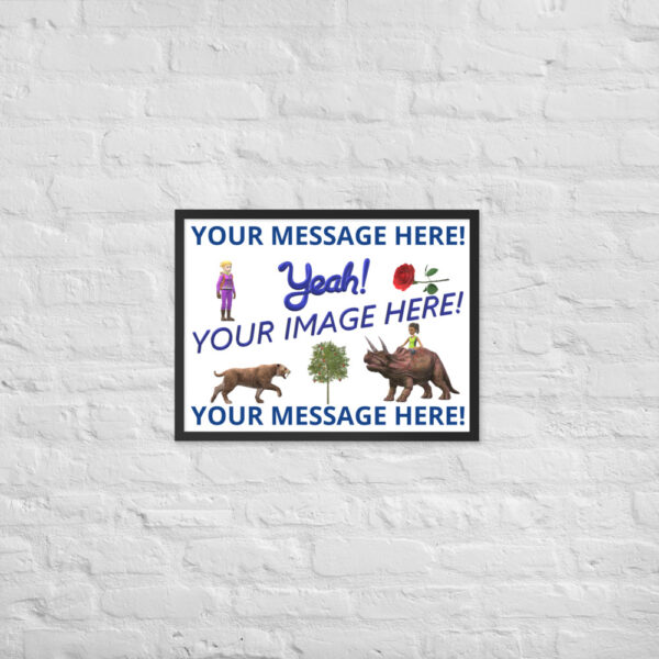 Personalized 18X24 picture with your image and personalized text