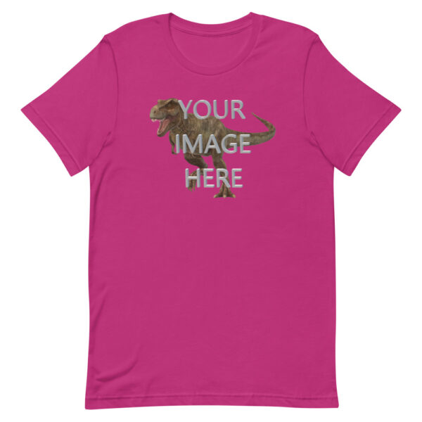 Personalize this berry colored shirt with your image