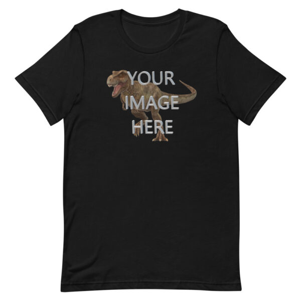Personalize this black colored shirt with your image