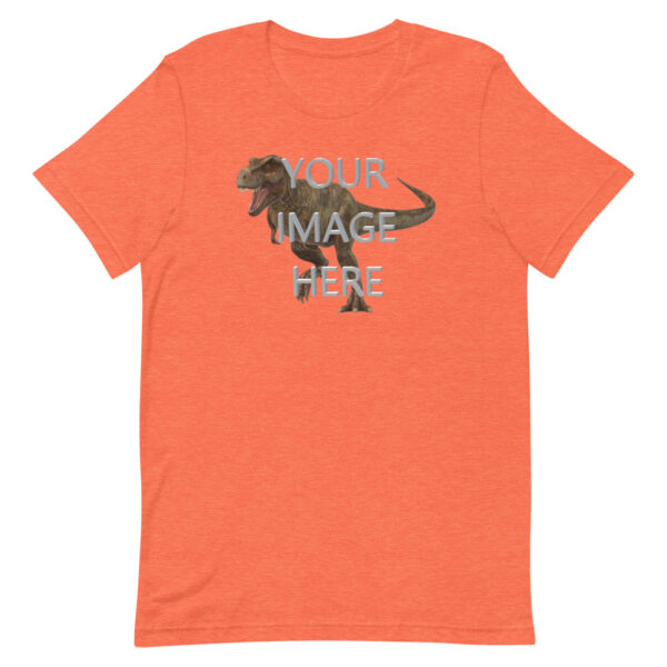 Personalize this orange shirt with your image