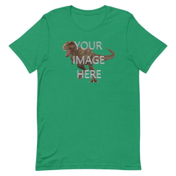 Personalize this kelly colored shirt with your image
