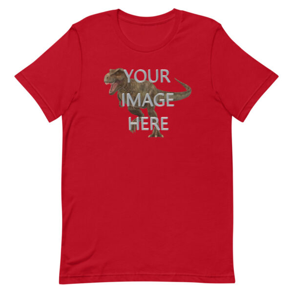 Personalize this red colored shirt with your image