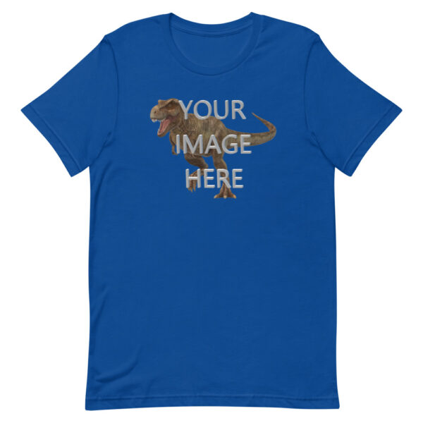 Personalize Shirt With Image this royal blue colored shirt with your image